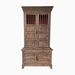 20th Century French Step Back Cupboard