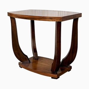 Italian Art Deco Burl Walnut Side Table