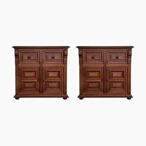 Buffet in legno di noce intagliato, XX secolo, set di 2