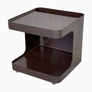 Vintage Spieltisch aus Rauchglas mit Rollen von Longato