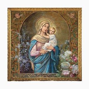 Wandteppich mit Madonna mit Kind, 19. Jh