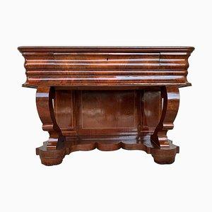 Early Biedermeier Period Walnut Console Table with Drawer, Austria, 1830s