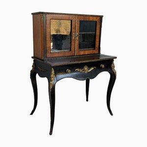19th Century French Napoleon III Kingwood and Black Ebonized Writing Table, 1850s