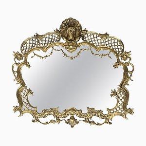 19. französischer handgefertigter barocker Bronze Spiegel mit Reliefs