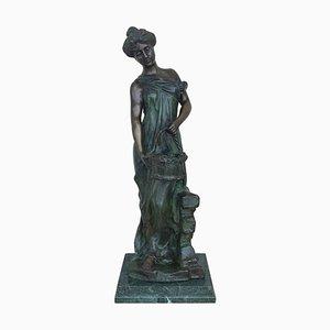 20th Century Cast Bronze Nymph Statue by Ferdinando De Luca, Italy