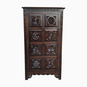 18th Century Spanish Castalan Influence Oak Kitchen Cabinet with One Door