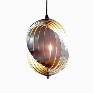 Shell Pendant Lamp by Henri Mathieu for Lyfa, 1960s