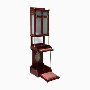 19th Century French Victorian Prie-Dieu, Oratory in Mahogany with Vitrine