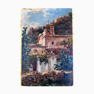 Barockes Heiligtum Öl auf Holz, 18. Jh., 18. Jh
