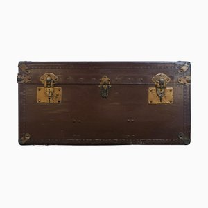Early 20th Vellum Campaign Trunk by Hall Du Voyage