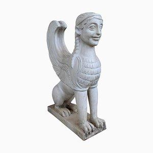 Greco Roman Sphinx aus Terrakotta, 19. Jh