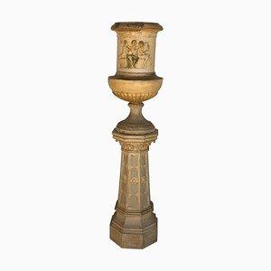 Neoclassical Terracotta Garden Urn