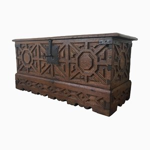 Spanish 18th Century Wood Coffer or Trunk
