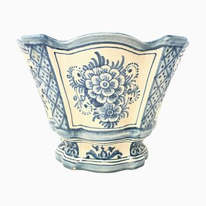20th Century Spanish Blue White Cache Pot