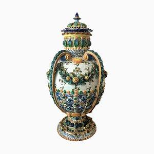 Spanische Urne aus Terrakotta, 19. Jh