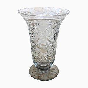 Vase aus geschnitztem Glas, 20. Jh