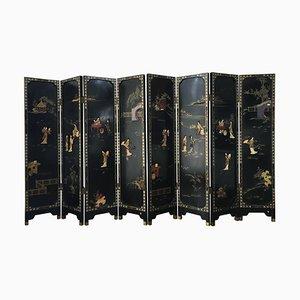 Divisori in stile cinese Coromandel a quattro pannelli, Francia, anni '20, set di 2