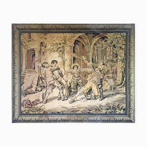 Large Antique Italian Tapestry by Cesare Auguste Said, 1880s