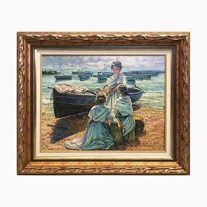 20th Century, Sea, Spanish Oil on Canvas, Gonzalez Alacreu