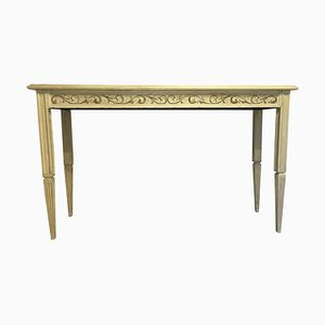 20th Century Painted Cream Beige Console Table