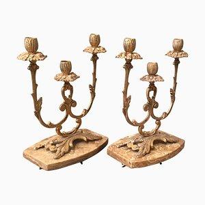 Französische Kerzenhalter im Louis XVI Stil, 19. Jh., 2er Set