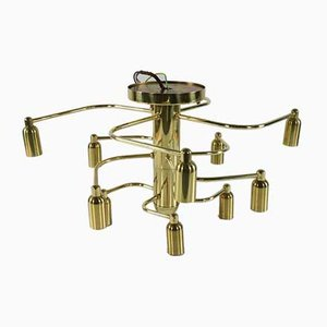 Skulpturale Deckenlampe mit 12 Leuchten von Gaetano Sciolari für Leola