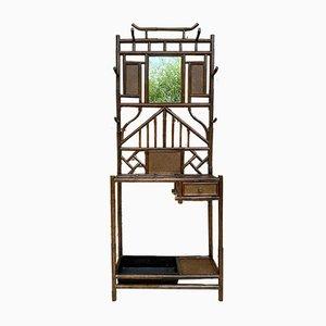 19th-Century English Bamboo Hall Stand