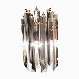 Kristallglas Prismen Wandleuchten von Paolo Venini, 1970er, 2er Set