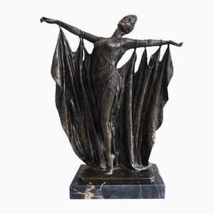Escultura modernista de bronce de Agathon Leonard