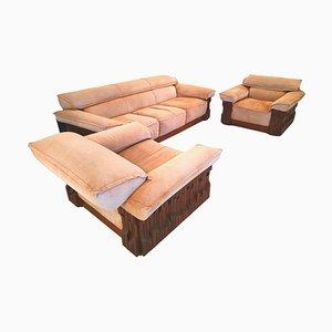 Modell Norman Piano Sofa und Sessel von Luciano Frigerio Di Desio, 1968, 3er Set