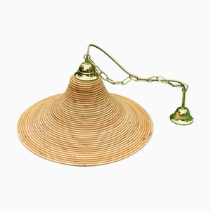 Pencil Reed Rattan Bamboo Lamp