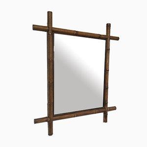 Großer Vintage Bambus Spiegel, 1960er