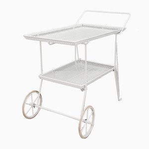Serving Cart with 3 Bottle Holders, Vienna, 1950s