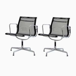 Model Ea108 Aluminium Office Chairs by Charles & Ray Eames, Set of 2