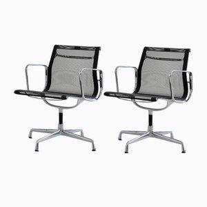 Sedie da ufficio modello Ea108 in alluminio di Charles & Ray Eames, set di 2