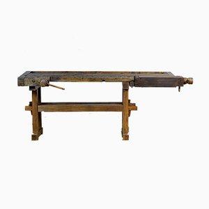 Banco de trabajo de carpintería antiguo de roble, 1910