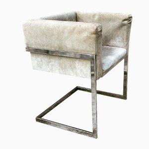 Quadratische Stühle im Stil von Saporiti Italia, 1970er, 4er Set
