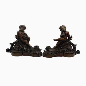 Sculptures en Bronze, 19ème Siècle, Set de 2