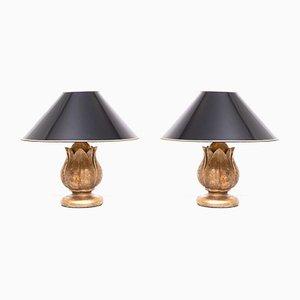 Pineapple Table Lamps, France, 1970s, Set of 2