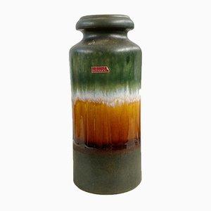 Minimalistische westdeutsche Mid-Century Modell 517-30 Fat Lava Bodenvase aus Keramik von Scheurich, 1970er