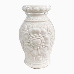 Große florale deutsche Mid-Century Modell 287-25 Keramikvase von Scheurich
