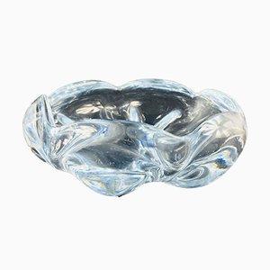 Stella Polaris Schale aus Kristallglas von Vicke Lindstrand für Orrefors, 1970er