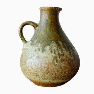 Vase Fat Lava Minimaliste Rustique Mid-Century en Céramique, Allemagne de l'Ouest, 1960s