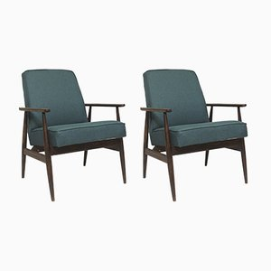 300-190 Green Armchairs by Henryk Lis, 1970s, Set of 2
