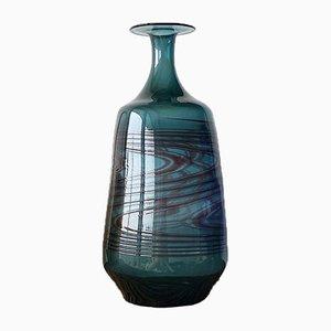 Vase Mid-Century en Verre Artisanal à Motifs, 1970s