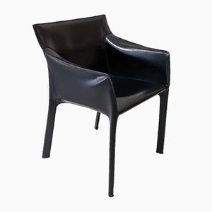 Saddle Stitched Leather Armchair by Matteo Grassi