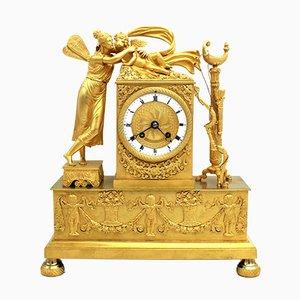 19th-Century Empire Gilt Bronze Clock Pendulum