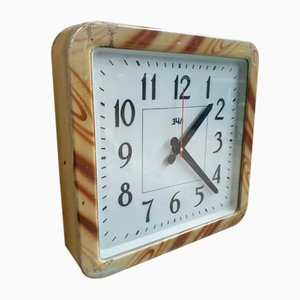 Antique Brown Factory Wall Clock