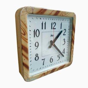 Horloge Murale d'Usine Antique Marron