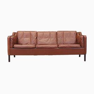 Leather Sofa from Mogens Koch, 1970s, Denmark